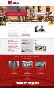 mativa global website design homepage