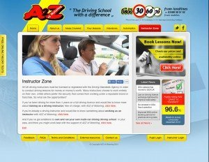 A2Z of Motoring - Web Design - Website Instructors page