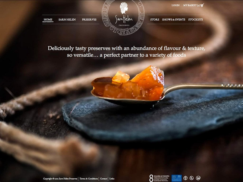 Sarn Helen Preserves - Website Homepage