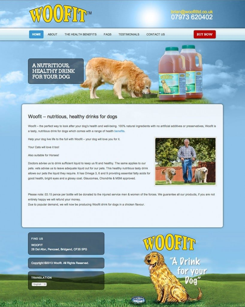 Woofit - Web Design - Website Homepage