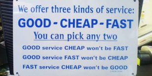 Good, Fast and Cheap – How Online Business Works