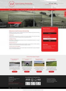 Earth Science Partnership - Web Design - Website Homepage