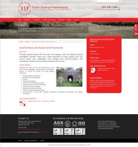Earth Science Partnership - Web Design - Website Project Page