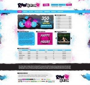 Raw Bingo Web Design - Homepage - 02