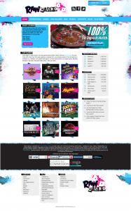 Raw Casino Website Design - Homepage