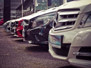 mercedes branding on cars