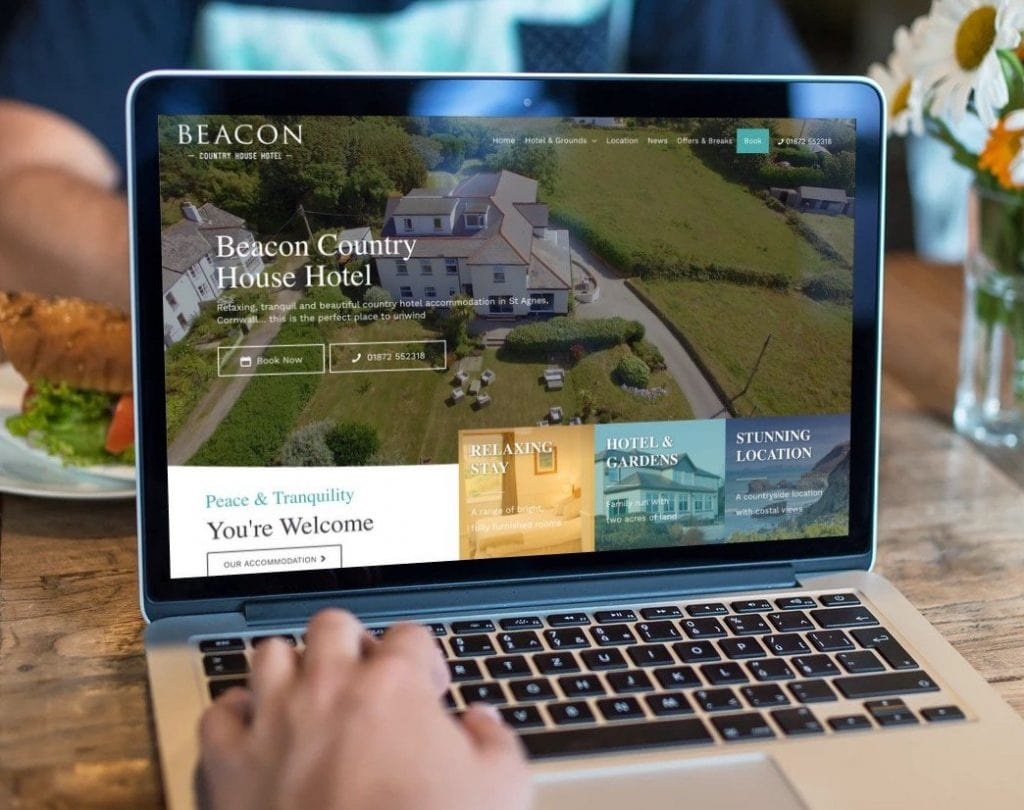 Beacon Hotel website on desktop and mobile 2