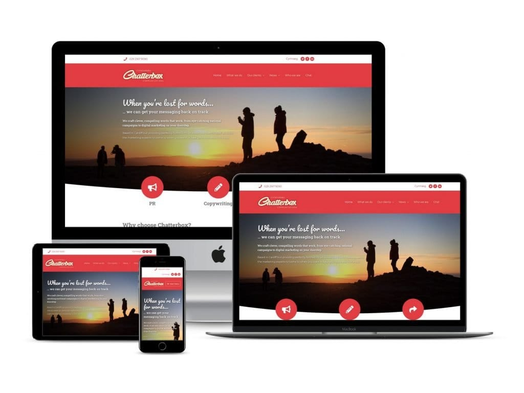 Chatterbox Communications website on multiple devices - The SeedMill