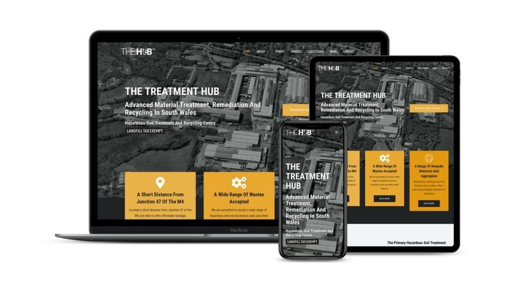 Treatment Hub website on various devices